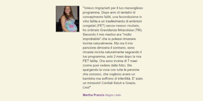 L'esperienza di Martha Francis